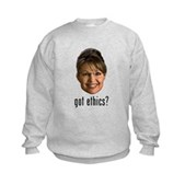 Anti-Palin Got Ethics? Kids Sweatshirt