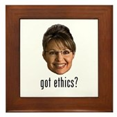 Anti-Palin Got Ethics? Framed Tile