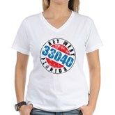 Vintage Key West 33040 Women's V-Neck T-Shirt