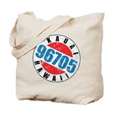 Vintage Kauai Hawaii 96705 Tote Bag