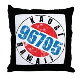 Vintage Kauai Hawaii 96705 Throw Pillow
