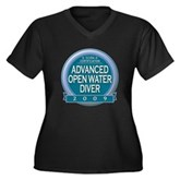 Advanced OWD 2009 Women's Plus Size V-Neck Dark T-