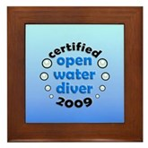 Open Water Diver 2009 Framed Tile