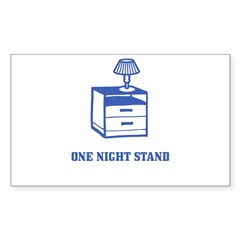 One Night Stand Sticker (Rectangle)