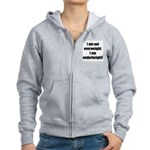 I am not overweight... Women's Zip Hoodie