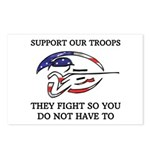 SUPPORT OUR TROOPS THEY FIGHT Postcards (Package o