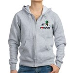 Birdorable I Love Ducks Women's Zip Hoodie
