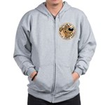 Paws for the Cure: Leukemia Zip Hoodie