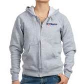 I Love Obama Women's Zip Hoodie