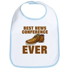 Anti-Bush Best News Conference Ever Shoe Incident Bib