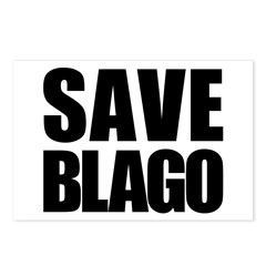 Save Illinois Governor Blagojevich, he's innocent! Postcards (Package of 8)