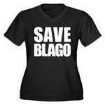Save Illinois Governor Blagojevich, he's innocent! Women's Plus Size V-Neck Dark T-Shirt