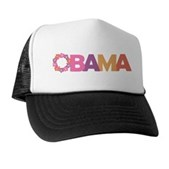 Obama Flowers Trucker Hat