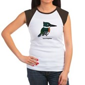 Green Kingfisher Women's Cap Sleeve T-Shirt