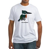 Green Kingfisher Fitted T-Shirt