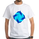 Dolphin Ring White T-Shirt