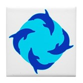 Dolphin Ring Tile Coaster