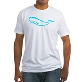 Stylized Sperm Whale Fitted T-Shirt