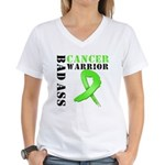 BadAss LymphomaWarrior Women's V-Neck T-Shirt