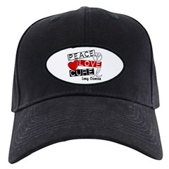 PEACE LOVE CURE Lung Cancer Black Cap