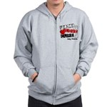 PEACE LOVE CURE Lung Cancer Zip Hoodie