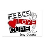 PEACE LOVE CURE Lung Cancer Postcards (Package of 8)