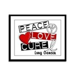 PEACE LOVE CURE Lung Cancer Framed Panel Print