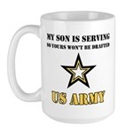 My Son is serving - US Army Large Mug