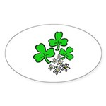 Irish Shamrocks Sticker (Oval 10 pk)