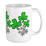 Irish Shamrocks Large Mug