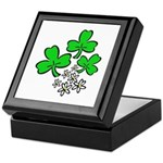 Irish Shamrocks Keepsake Box