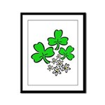 Irish Shamrocks Framed Panel Print