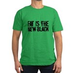 Fat Is The New Black Funny T-Shirts & Gifts Men's Fitted T-Shirt (dark)