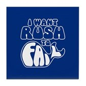 I Want Rush to Fail Tile Coaster