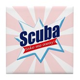 Scuba Take Me Away Tile Coaster