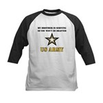 Brother Serving Draft Army Kids Baseball Jersey