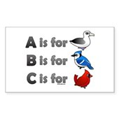 B is for Birdorable Rectangle Sticker