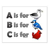 B is for Birdorable Small Poster
