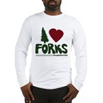 I Heart Forks, WA - Twilight Long Sleeve T-Shirt