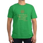Elizabeth Marriage Quote Men's Fitted T-Shirt (dar
