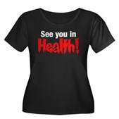 See You In Health! Women's Plus Size Scoop Neck Da