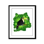 Save the Rainforest Framed Panel Print
