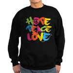 Hope Peace Love Sweatshirt (dark)