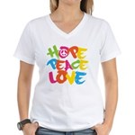 Hope Peace Love Women's V-Neck T-Shirt