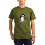 Breast Cancer penguin Organic Men's T-Shirt (dark)