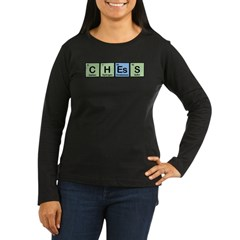 Chess made of Elements Women's Long Sleeve Dark T-Shirt