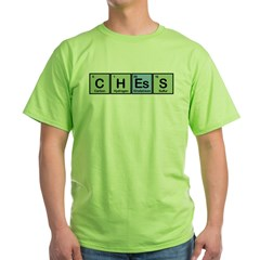Chess made of Elements Green T-Shirt