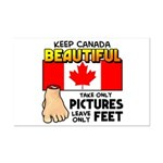 Canada Severed Foot Mini Poster Print