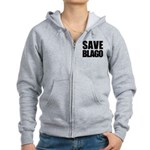 Save Illinois Governor Blagojevich, he's innocent! Women's Zip Hoodie