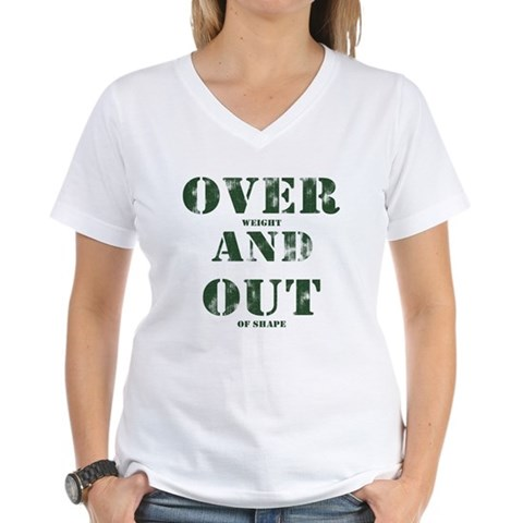 Over & Out Women's V-Neck T-Shirt
